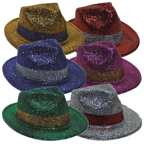 lot 6 Chapeaux borselino a paillettes