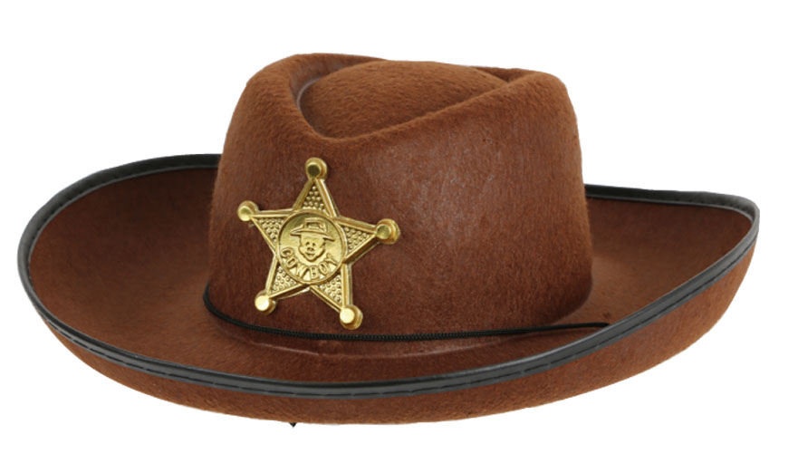 Chapeau feutre sheriff junior rouge