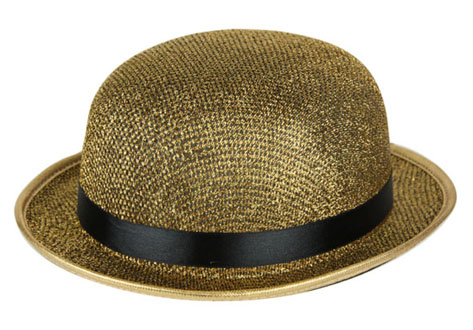 Chapeau melon LUREX or