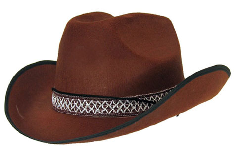 Chapeau feutre cowboy dallas marron
