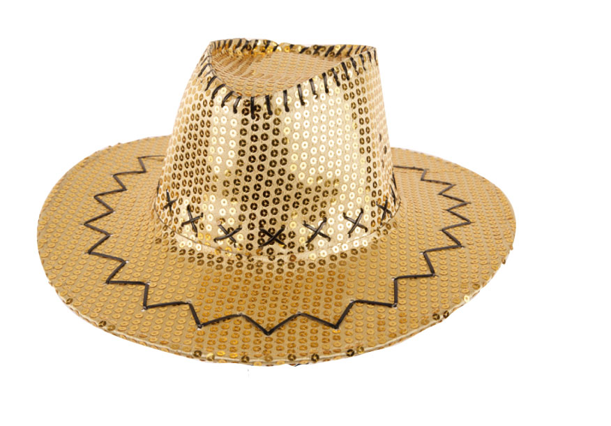 Chapeau cow boy sequin or