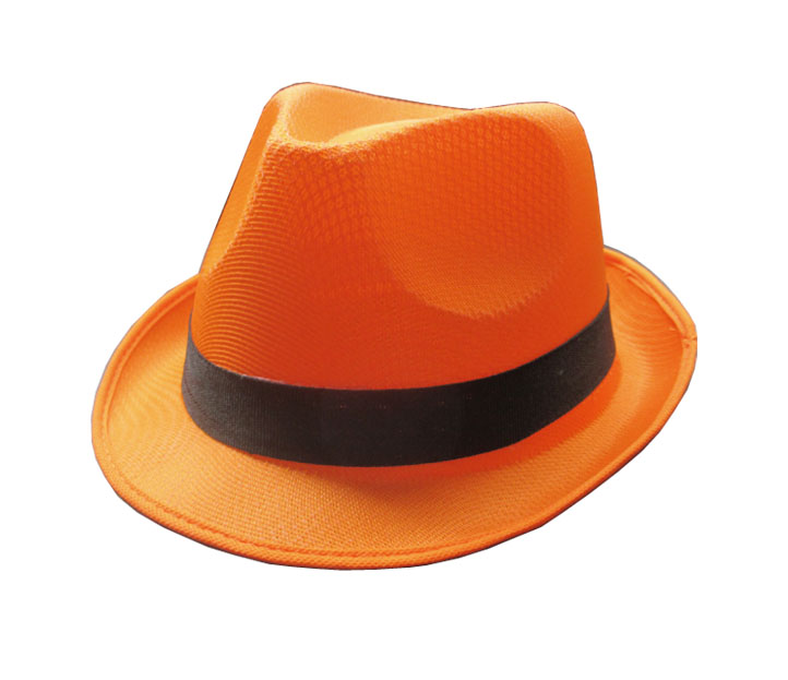 Chapeau funky neon orange