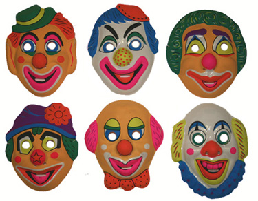 lot 6 Masques clown