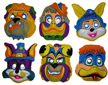 lot 6 Masques animaux