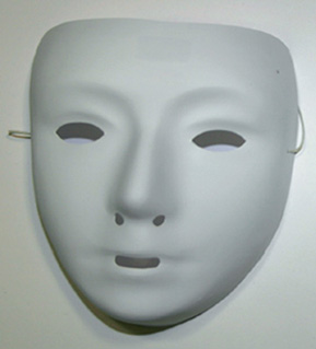 Masque pvc blanc kid