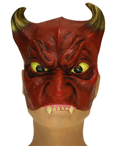 Demi-masque rouge diable