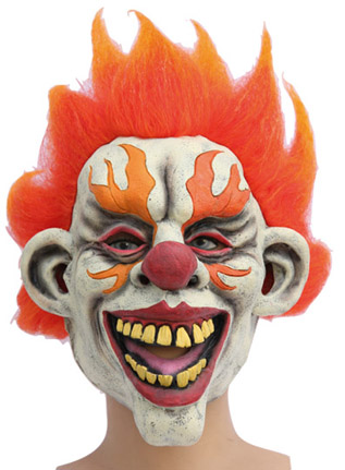 Masque clown flamme