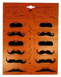 Lot de 12 Moustaches noir