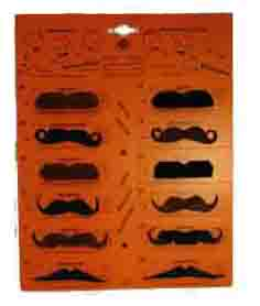 Lot de 12 Moustache noir / marron