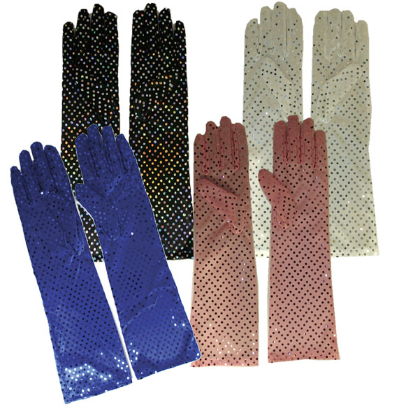 Gants long paillettes