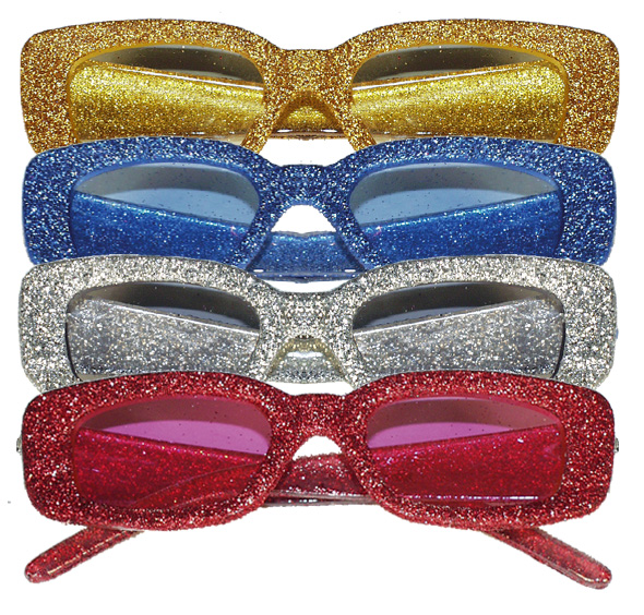 lot 4 Lunettes disco paillettes  70 S PAUL NAREF