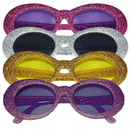 lot 4 Lunettes  disco paillettes CARTOON