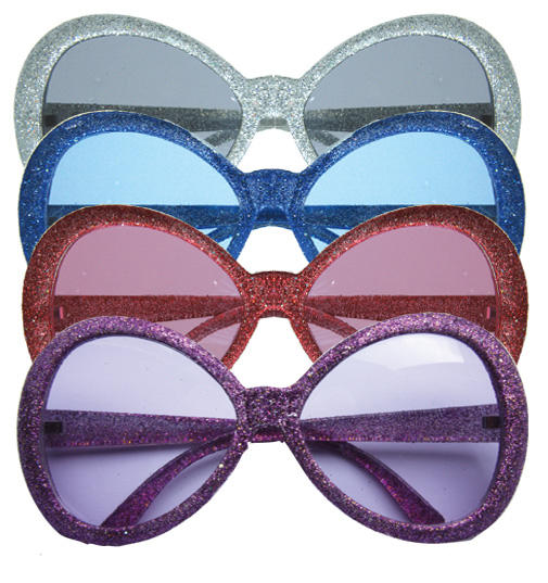lot 4 Lunettes  disco paillettes MAGIC