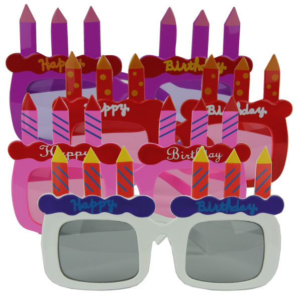 lot 4 Lunettes HAPPY BIRTHDAY