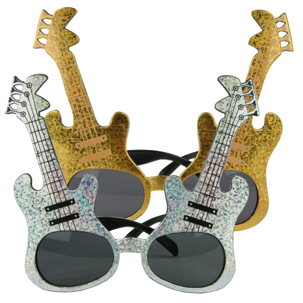 Lunettes guitare  or argent