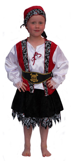 Deguisement Pirate Fille taille 116 cm