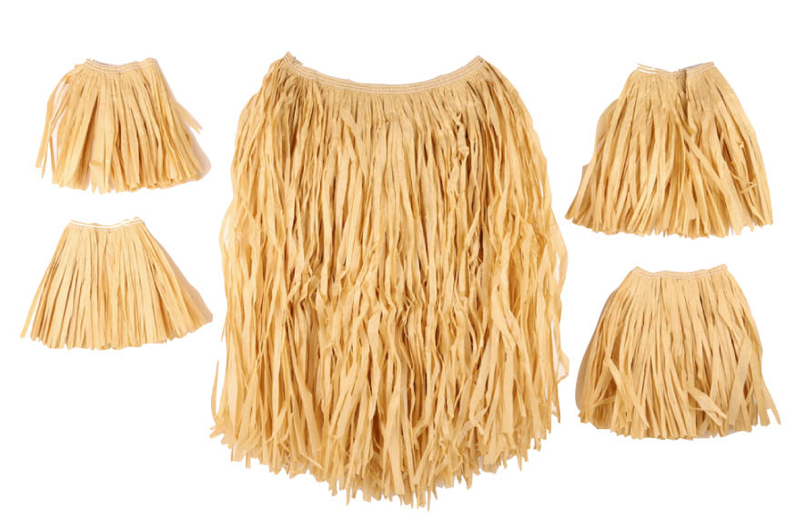 Set jupe raffia naturel 5 pieces