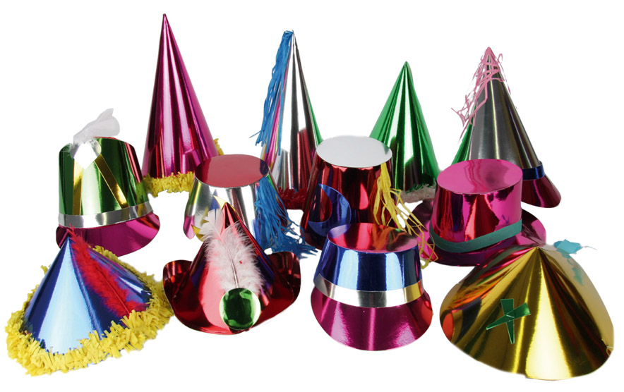 72 Chapeaux  metal  multicolors