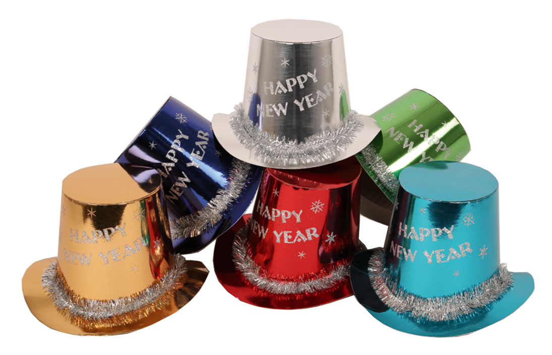 50 Chapeaux HAPPY NEW YEAR 6 coloris