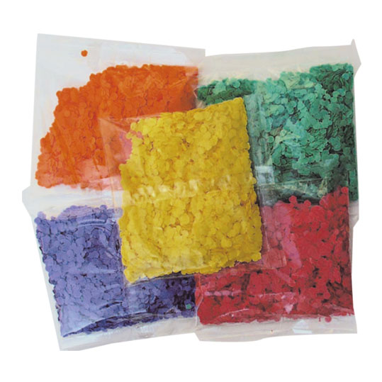 lot 200 Confetti   50 gr  5 coloris