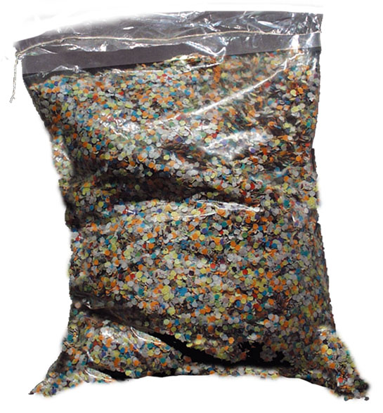 lot 10 Confetti  1kg  multicolors