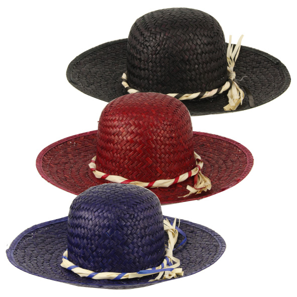 lot 3 Chapeaux paille naturel