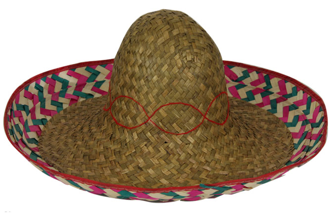 Sombrero naturel fantaisie