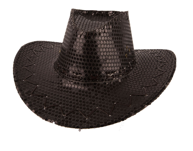 Chapeau cow boy sequin  noir