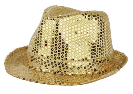 Chapeau funk sequin or