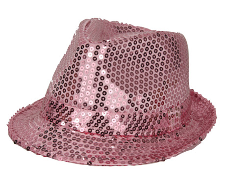 Chapeau funk sequin rose