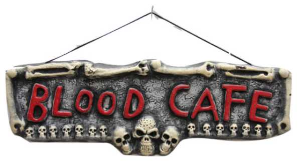 D�coration panneau BLOOD CAFE